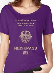German Passport Vintage Women's Relaxed Fit T-Shirt