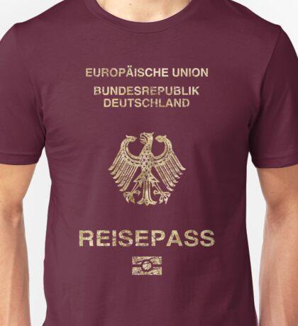 German Passport Vintage Unisex T-Shirt