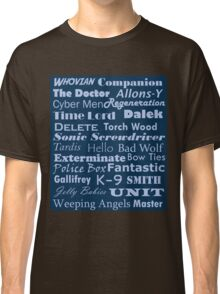 Doctor Who Text Classic T-Shirt