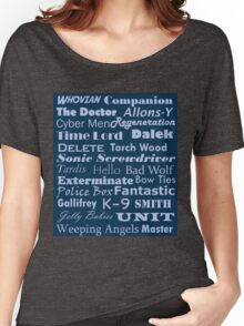 Doctor Who Text Women's Relaxed Fit T-Shirt