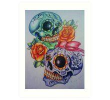 Marriage skulls Art Print
