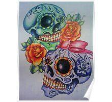 Marriage skulls Poster