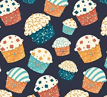 Cute party cupcake design by astrozombie