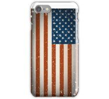 Grunge American flag design iPhone Case/Skin