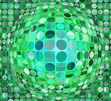 Optical Illusion Sphere - Green by BonniePhantasm