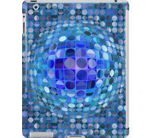 Optical Illusion Sphere - Blue iPad Case/Skin