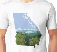 Georgia: Peaches_Blue Ridge Mountains Unisex T-Shirt