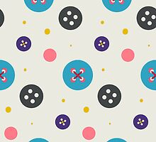 Cute stitched button pattern by astrozombie