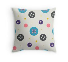 Cute stitched button pattern Throw Pillow