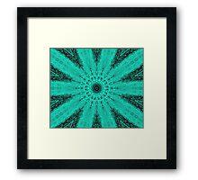 Starburst on Steroids - Aqua Framed Print