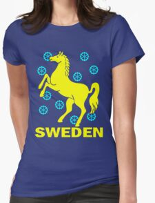 SWEDEN-HORSE Womens Fitted T-Shirt