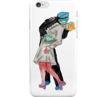 Retro kiss around the world  iPhone Case/Skin