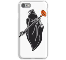 Death hooded toilet sucker Pümpel funny iPhone Case/Skin