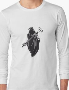 Death hooded toilet sucker Pümpel funny Long Sleeve T-Shirt