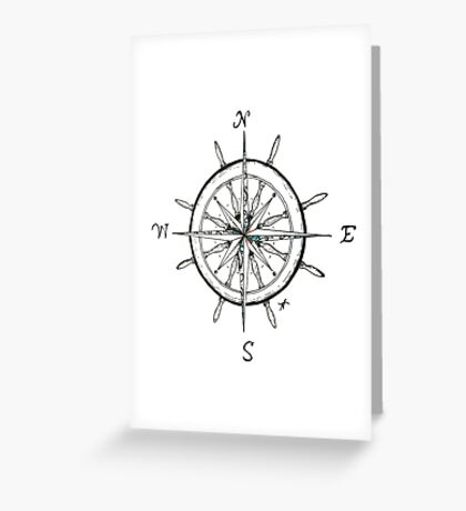 Captain's Compass Greeting Card
