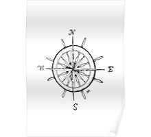 Captain's Compass Poster