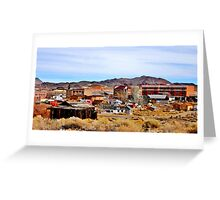 A Town In Nevada Greeting Card