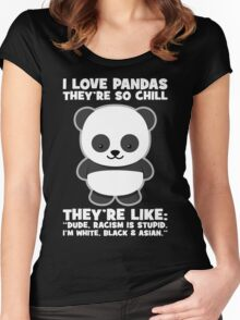 Pandas And Racism Women's Fitted Scoop T-Shirt