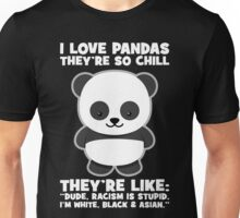 Pandas And Racism Unisex T-Shirt