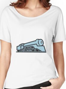 Train railway locomotive Women's Relaxed Fit T-Shirt