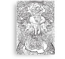 Celebrate Nature B&W Canvas Print
