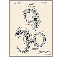 Handcuffs Patent Photographic Print