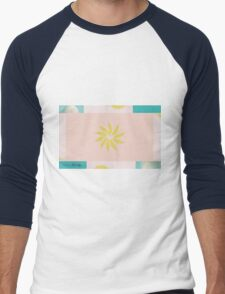 Beach and Sun Collage Men's Baseball ¾ T-Shirt