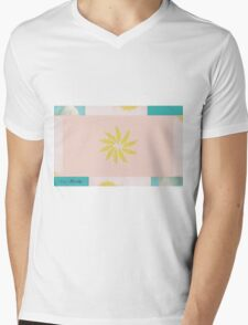 Beach and Sun Collage Mens V-Neck T-Shirt