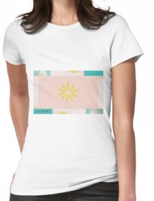 Beach and Sun Collage Womens Fitted T-Shirt