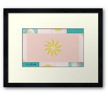 Beach and Sun Collage Framed Print