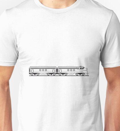 Train railway diesel locomotive wagon Unisex T-Shirt