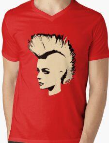 Punk Girl – bichrome print Mens V-Neck T-Shirt
