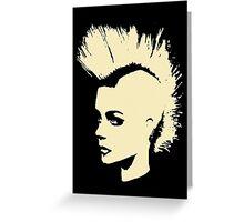 Punk Girl – bichrome print Greeting Card