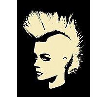 Punk Girl – bichrome print Photographic Print