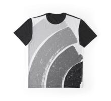 Brush Abstract 4 Grey Graphic T-Shirt