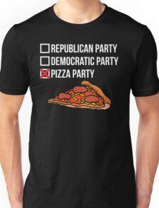 Republican Party vs Democratic Party vs Pizza Party Unisex T-Shirt