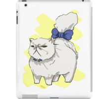 Blue Bow Persian iPad Case/Skin