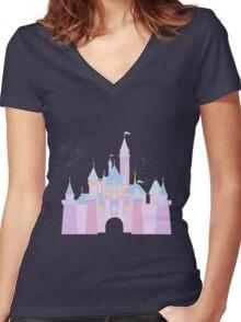 Magic Castle Women's Fitted V-Neck T-Shirt