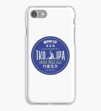 Boxing Cat Brewery TKO IPA  India Pale Ale Chinese Beer iPhone Case/Skin
