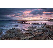Norah Rockpool, sunrise Photographic Print