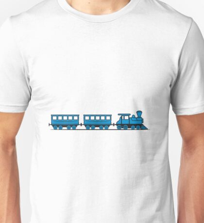 Train railroad steam locomotive wagons Unisex T-Shirt