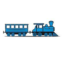 Train steam locomotive railway wagon by Motiv-Lady