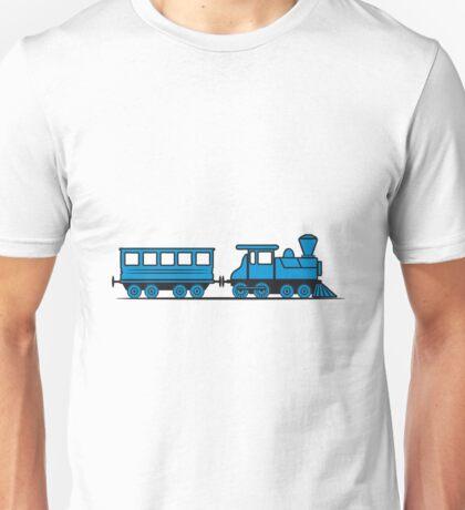 Train steam locomotive railway wagon Unisex T-Shirt