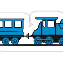 Train steam locomotive railway wagon Sticker