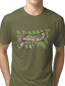 Lounging Maine Coon Tri-blend T-Shirt