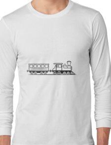 Train steam locomotive railway wagon Long Sleeve T-Shirt