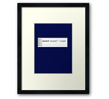 LISP sucks Framed Print