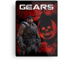 Gears of War Tattered Metal Print