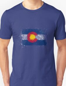 Colorado Flag Splatter Unisex T-Shirt