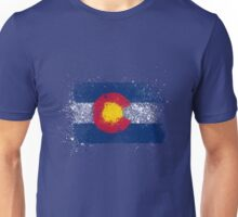 Colorado Flag Splatter Unisex T-Shirt